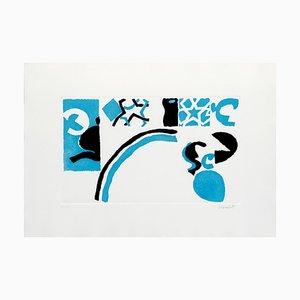 Abstract Composition - Original Etching by Antonio Scordia - 1980 ca. 1980