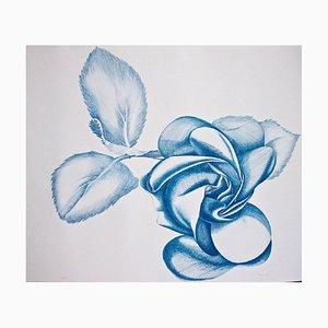 Blue Rose - Original Radierung von Giacomo Porzano - 1972 1972