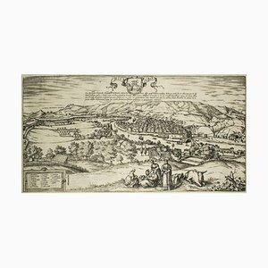 Mappa antica di Bilbao 'Civitates Orbis Terrarum' di F. Hogenberg - 1572-1617 1572-1617