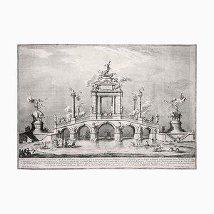 Un Ponte trionfale ornato con reperti di Ercolano - by Giuseppe Vasi - 1755 1755