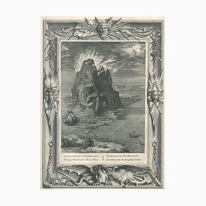 Encelade, from ''Temple des Muses'' - Original Etching by Bernard Picart - 1742 1742
