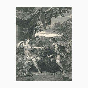 Meleagre et Atalante, aus '' Le Temple des Muses '' von B. Picart 1742
