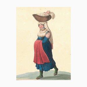 Costume di Cajazzo - Watercolor by M. De Vito - 1820 ca. 1820 c.a.