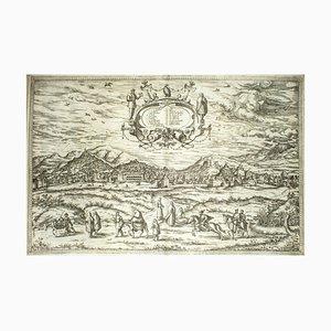 Granada, Karte von '' Civitates Orbis Terrarum '' - von F.Hogenberg - 1575 1575