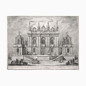 Caccia de' Tori - Original Etching by Giuseppe Vasi - 1775 1775