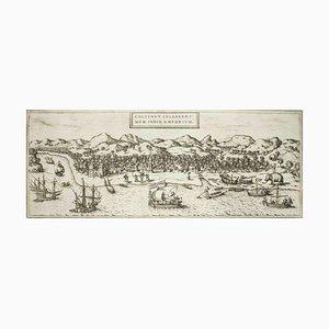 Kolkata (Calecut), Map from ''Civitates Orbis Terrarum'' - by F. Hogenberg - 1575 1575