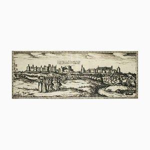Oxford, Karte von '' Civitates Orbis Terrarum '' - von F. Hogenberg - 1575 1575
