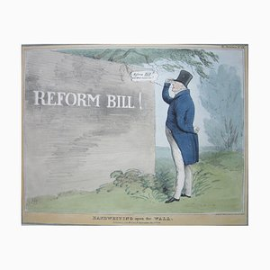 Handwriting Upon the Wall – Reform Bill! - Lithograph by J. Doyle - 1831 1831