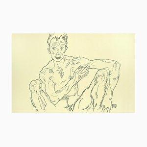 Hockender Männlicher Akt (Selbstbildnis) - 2000er - von Egon Schiele - Modern Art 2007