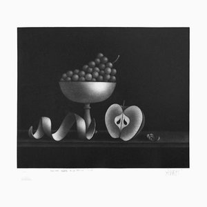 Nature Morte à la Fenille Timide - Original Radierung von Mario Avati - 1961 1961