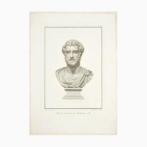 Gravure à l'Eau-Forte d'Antoninus Pius - Original P.ching par P. Fontana After A. Tofanelli 1821