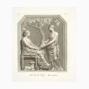 Naissance de Telefon, a a Bas-Relief - Gravure Origching par A. Campanella 1821
