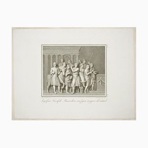 The Sacrifice - Original Etching by F. Cecchini After A. Tofanelli - 1821 1821