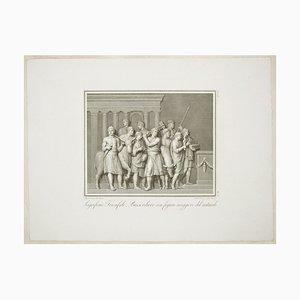 The Sacrifice - Original Radierung von F. Cecchini After A. Tofanelli - 1821 1821