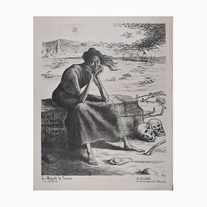 Sa Majesté la Famine - Original Lithograph by Maximilien Luce - 1898 1898