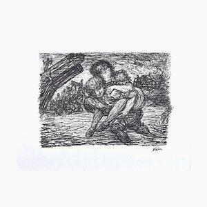 Rettung - Original Lithograph by Alfred Kubin - 1944 1944