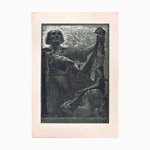 Kriegsnotspende für Leipzig - Original Radierung von Bruno Héroux - 1916 1916