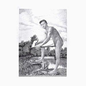 Der Zeichner - Original Etching by Unknown Artist of circle of Max Klinger 1900 ca.