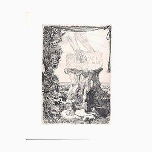 Menzel Fest-Blatt - Original Etching by Max Klinger - 1884 1884