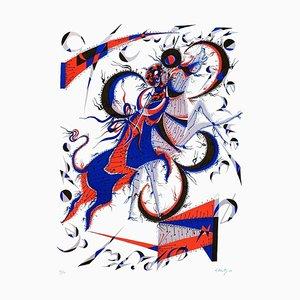 Horse Flies - Original Lithograph by Rafael Alberti - 1970 1970