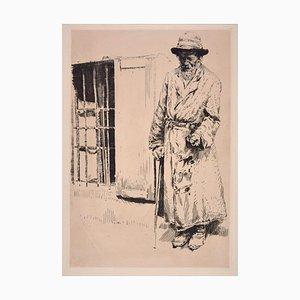 Galizischer Bletter . Original Etching by Erich Wolsfeld - 1915 1915