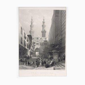 Gate Of The Metwáleys - Cairo - Original Radierung von E. Challis - 1860er 1860er