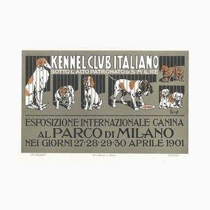 Esposizione Internazionale Canina-Vintage Adv Lithograph by A. Terzi-1900 ca. 1900 ca.