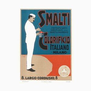 Smalti Colorificio - Vintage Advertising Lithograph by A. Terzi - 1900 ca. 1900 ca.