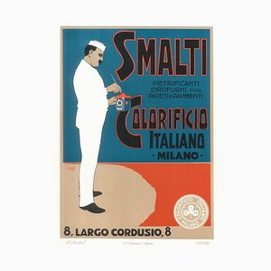 Smalti Colorificio - Vintage Lithographie von A. Terzi - um 1900 Ca. 1900