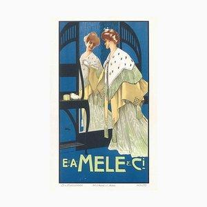 Mele - Original Vintage Lithographie von L. Metlicovitz - um 1900 Ca. 1900