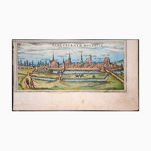 Mapa antiguo de Stade, Civitates Orbis Terrarum de F.Hogenberg - 1572-1617 1572-1617