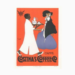 Costina's Coffee - Vintage Advertising Lithograph by A. Terzi - 1900 ca. 1900 ca.
