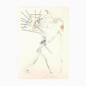 Les Trois Barons Félons - Original Etching by S. Dalì - 1969 1969