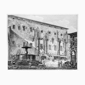 Piazza Palestrina costruita sulle rovine del famoso Tempio della Fortuna ... 1826