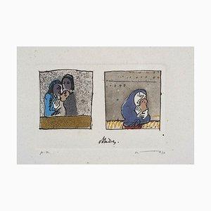 Maria - Original Lithograph by José Ortega - 1970s 1970s
