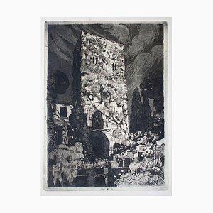 Ravello - Original Etching by Nicola Galante - 1930 ca. 1930 ca.