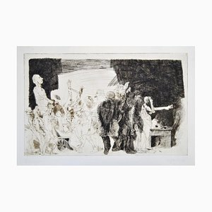 Der Transport - Original Etching and Drypoint by A. Hrdlicka - 1968 1968