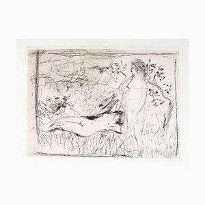Deux Nues (Les Baigneuses) - Original Radierung von Pierre Bonnard - 1927/29 1927/29