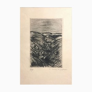Le Blessé dans la Tranchée - Original Etching by Dunoyer de Segonzac - 1940s 1944-40s
