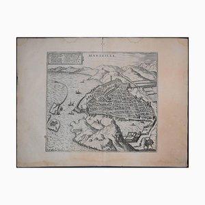Marseille, Antique Map from ''Civitates Orbis Terrarum'' 1575