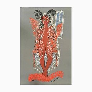 Untitled - Original Siebdruck von AR Mafai - 1950s 1950s