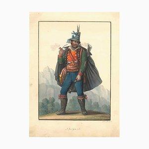 Brigante - Original Aquarell um 1820 1820 ca