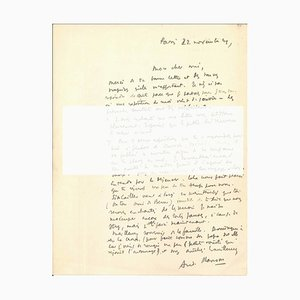 Original Signed Letter by André Masson - 1940s - Surrealism 1949
