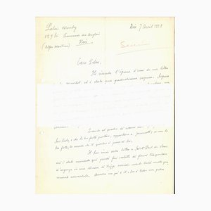 Autograph Buchstabe zu Veno Pilon - 1950er - Gino Severini - Futurist 1958