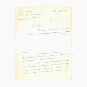 Autograph Letter to Veno Pilon - 1950s - Gino Severini - Futurist 1958