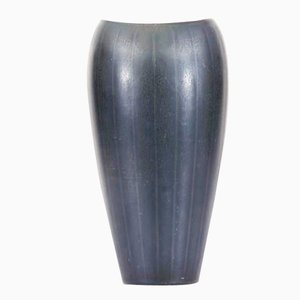 Dark Green Haresfur Glaze AXZ Vase by Gunnar Nylund for Rörstrand, 1960s