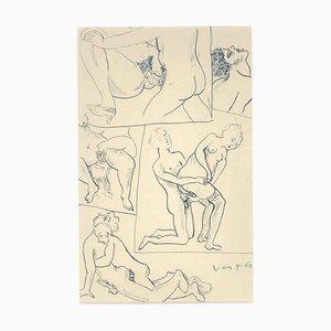 Erotic Drawing n. 9 - 1930s - Marcel Vertès - Ink - Modern