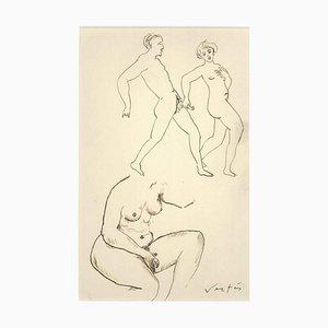 Erotische Zeichnung n. 6 - 1930 - Marcel Vertès - Ink - Modern