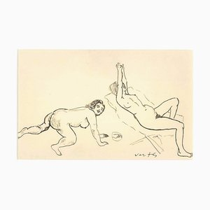 Erotic Drawing n. 17 - 1930s - Marcel Vertès - Ink - Modern