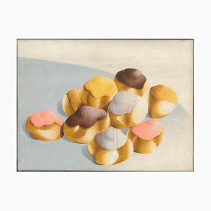 Pastries - Nugella - 1980s - Giuseppe Salvatori - Oil on canvas - Contemporary 1984